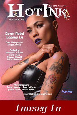 HOT INK MAGAZINE COVER POSTER - Cover Model Loosey Lu - July 2019