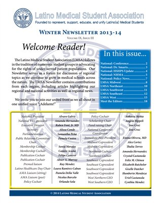 LMSA Newsletter, Winter 2014