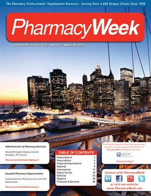 Pharmacy Week, Volume XXIV - Issue 11 & 12 - March 15 - March 28, 2015