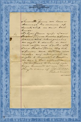 (PAGES 3-4) 1895 Mortgage, Richard Moore to J.T. Webb, W.S. Cook, J.T. George, G.G. Coulter, Graves County, Kentucky
