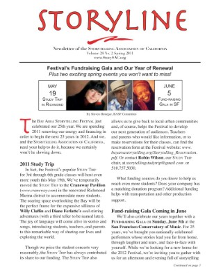 Spring 2011 Storyline Newsletter of the Storytelling Association of California