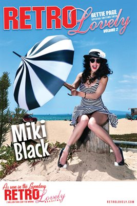 Bettie Page 2020 Miki Black Poster