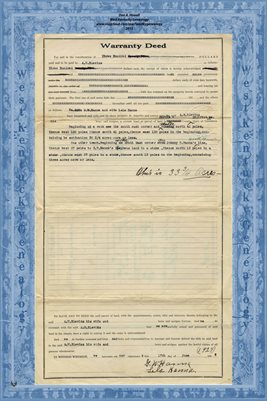 1930 Warranty Deed, G.W. Hanna & wife to A.W. Blevins