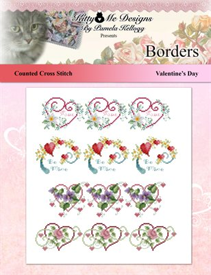 Valentines Day Borders Cross Stitch Pattern