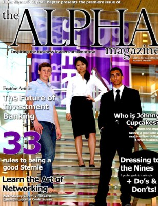 The Alpha Magazine 2010 - Premiere Issue