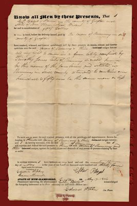 1834 DEED ESTHER BLEDGETT TO THE TOWN OF RUMNEY, GRAFTTON COUNTY, NEW HAMPSHIRE