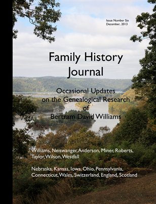 Family History Journal: Occasional Updates on the Research of Bertram David Williams