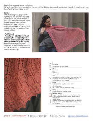 Desdemona Shawl INSIDE PAGES