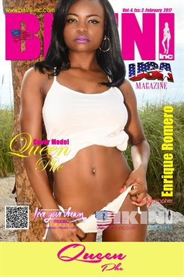 BIKINI INC USA MAGAZINE COVER POSTER - Cover Girl Queen Phe - February 2017