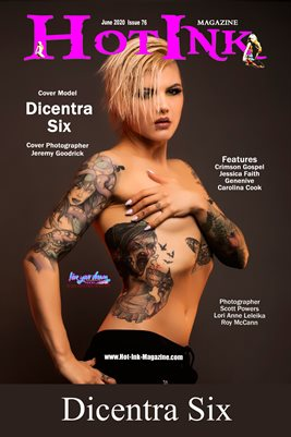 HOT INK MAGAZINE COVER POSTER - Cover Model Dicentra Six - June 2020