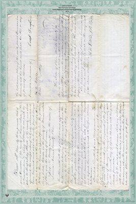 1855 Deed, Duncan to McCool, Miami County, Ohio