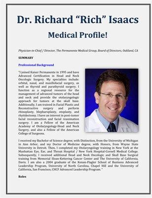 Medical Profile of Richard Isaacs MD