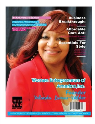 FACES OF WEA MAGAZINE 1ST ANNIVERSARY EDITION