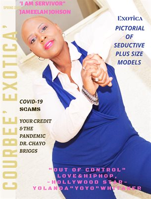 COURBEE EXOTICA MAGAZINE Cover Model Jameelah