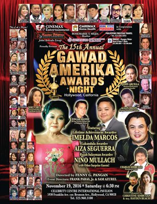 Gawad Amerika Awards Souvenir Program