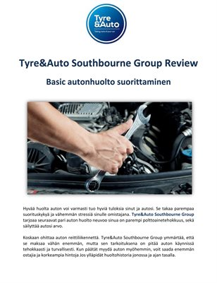 Tyre&Auto Southbourne Group Review: Basic autonhuolto suorittaminen