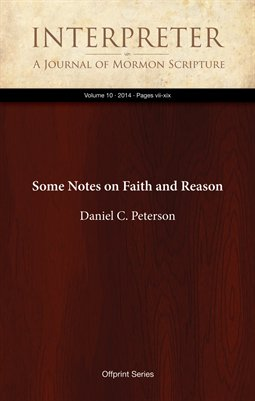 Some Notes on Faith and Reason