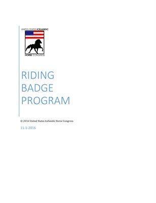 Riding Badge Program