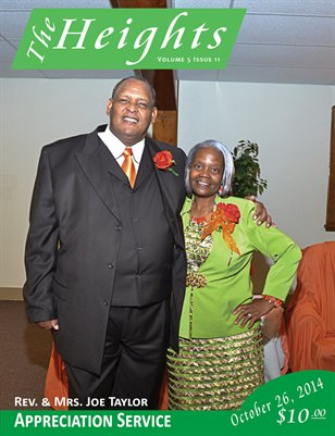 Volume 5 Issue 11- Rev. & Mrs. Joe Taylor Appreciation Service