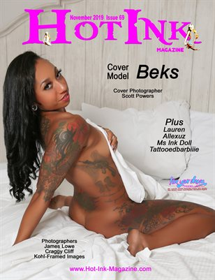 HOT INK MAGAZINE - Cover Model Beks - November 2019