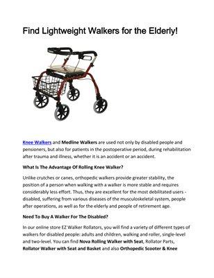 EZ Walker Rollators