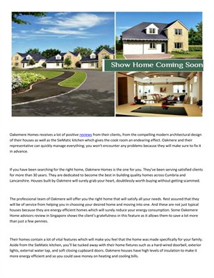 Oakmere Homes Advisors Striving for quality