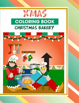 Xmas Bakery Coloring Book