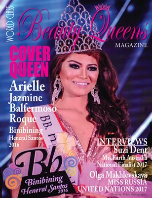 World Class Beauty Queens Magazine with Arielle Jazmine Balfermoso Roque