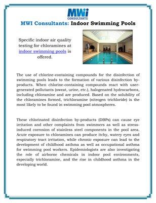 MWI Consultants: Indoor Swimming Pools