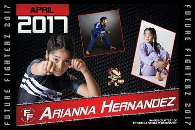 Arianna Hernandez Cal Poster 2017