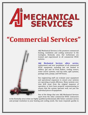 A&J Mechanical Services: Commercial Services