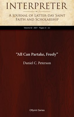 """All Can Partake, Freely"""