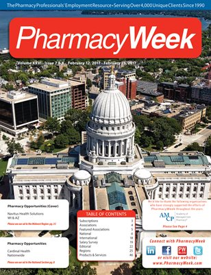 Pharmacy Week, Volume XXVI - Issue 7 & 8 - February 12, 2017 - February 25, 2017