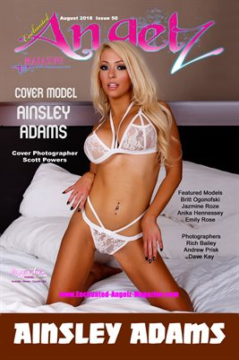 ENCHANTED ANGELZ MAGAZINE COVER POSTER - Cover Model Ainsley Adams - August 2018