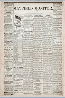 (Pages 1-2) Mayfield Monitor, MARCH 29,1879