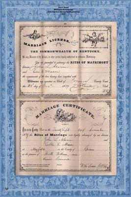 1889 ELLA MASON - JOHN ALSMON