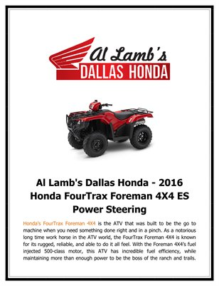 Al lamb 39 s dallas hon al lamb 39 s dallas honda 2016 for Al lamb honda