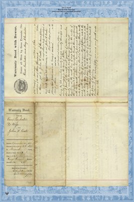 1871 Deed, Pemberton to Coate, Miami County, Ohio