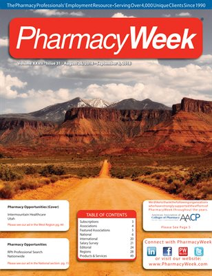 Pharmacy Week, Volume XXVII - Issue 31 - August 26, 2018 - September 8, 2018