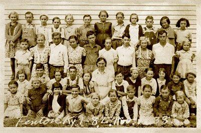 1938 Grades 1-8 Fenton, Trigg County, Kentucky