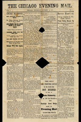 (PAGE1-2) OCT. 12, 1871 THE CHICAGO EVENING MAIL NEWSPAPER