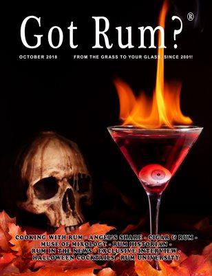 """""""Got Rum?"""" October 2018"""