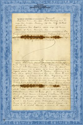 ( PAGES 3 - 4 ) 1891 DEED S.W. COOLEY TO MRS SOPHIA WAKE