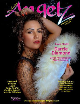 ENCHANTED ANGELZ MAGAZINE - Cover Model Darcie Diamond - November 2020