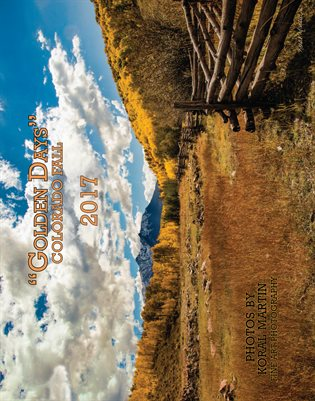 """Golden Days"" Fall in Colorado Calendar Photography by Koral Martin 11x14 Spiral Bound"