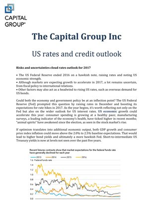 The Capital Group Inc: US rates and credit outlook