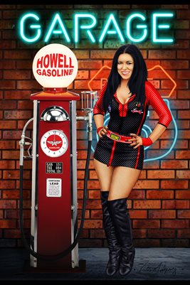 HOWELL GASOLINE PINUP