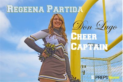 Don Lugo Cheer Captain Regeena Partida