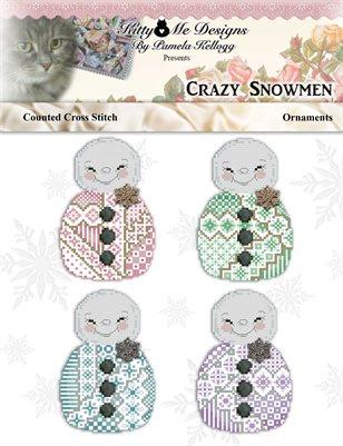Crazy Snowman Cross Stitch Ornaments