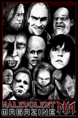 Malevolent Magazine - Legends of Horror 2015 Poster
